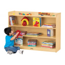 Bookcase | Adjustable Mobile Straight Shelf with Lip