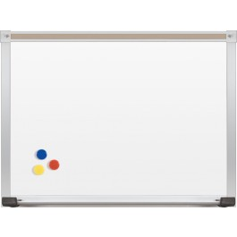 WHITEBOARD   PORCELAIN STEEL WITH DELUXE ALUMINUM TRIM 4'x6'
