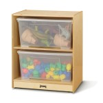 Cubbie | Space Saver Jumbo Tote Storage with Clear Totes & Lids