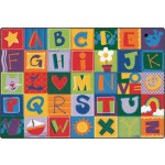 Carpet | 6' X 9' KIDSoft Toddler Alphabet Blocks rug