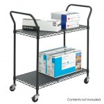Wire Utility Cart-2 Shelves
