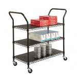 Wire Utility Cart-3 Shelves