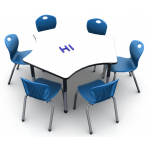 Shown in Folkstone Markerboard with 6 Discover D10A Royal Blue Chairs