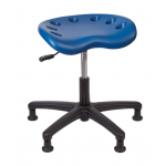 Desk height shown in blue seat