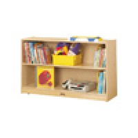 Bookcase | Low Adjustable Mobile Straight Shelf