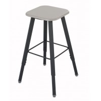 Student Stool | AlphaBetter Adjustable-Height with Thermoplastic Seat and Tip Resistant Base