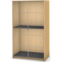 2 Compartment with Full Length Wire Door