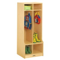 Coat Locker | 2 Section with Step