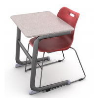 Grey Glace with Ruby Red Chair (ASSL18)