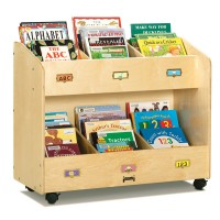 Bookcase | Mobile 6-Section Book Organizer
