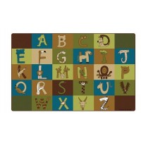 "Rug | 7' 6"" X 12'  A to Z Animals Nature"