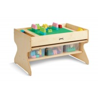 Deluxe Building Table With 3 Storage Tubs