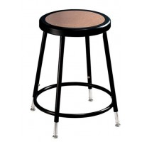 "Adjustable Stool | Round Hardboard Seat | 19""-27"" 