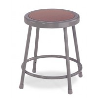 "Adjustable Stool | Round Hardboard Seat | 19""-27"""