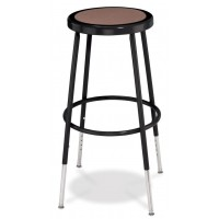 "Adjustable Stool | Round Hardboard Seat | 25""-33"" 