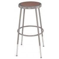 "Adjustable Stool | Round Hardboard Seat | 25""-33"""