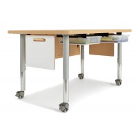 48 X 30 Table With Gray Mobile Legs