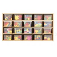 Cubbie | 20 Tray Storage with Clear Trays