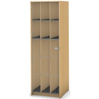 9 Compartment (6 small and 3 tall),Full Length Wire Door