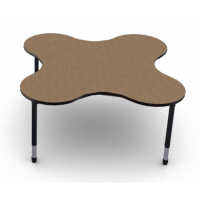 Shown in French Pear laminate with Black edge and Black leg