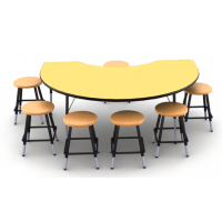 Table shown in Quince; Stool (0801) shown in Sunset Orange