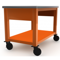 Stainless Steel Top, Orange Base