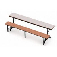Top in Grey Nebula and Bench in Wild Cherry