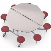 Shown in Grey Nebula Top and Burgundy Stools