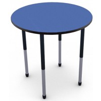 "Shown in Blue Curacao Top with Black Edge and Black Legs 27"" -42""tall"