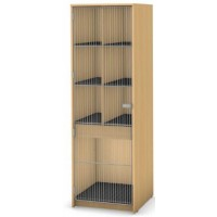 7 Compartment (6 small and 1 large) | Full Wire Door