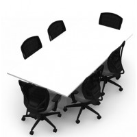 Shown in Designer White Table, OTG2801 Chair