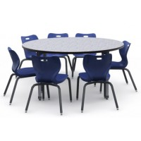 Shown in Grey Glace Top, Black Edge, Black Legs, Chairs #AS4L16, Azure