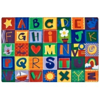 Carpet | KIDSoft Toddler Alphabet Blocks Rug | 4' x 6'