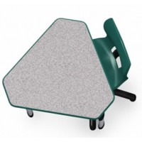 Shown in Grey Nebula Top, Forest Green Edge, Black Legs, Chair (00961) Forest Green