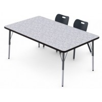 Shown in Grey Glace Top, Black Edge, Black Legs, Chairs (AS4L14) Onyx