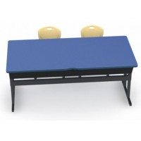 Shown in Blue Curacao Top, Black Edge, Black Legs, Chairs (D30C) Squash