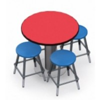 Shown in Berry Top, Black Edge, Stools 0801 Royal Blue
