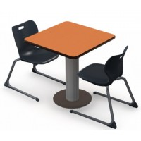 Shown with Marmalade Top, Black Edge, Chairs (ASCL18) Black