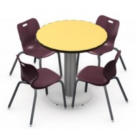 Shown in Quince Top, Black Edge, Chairs (AS4L18) Maroon