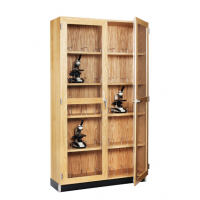 Microscope Storage Cabinet in oak