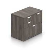 Mixed Storage Unit With Lock Shown in Autumn Walnut