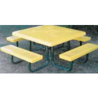 "Elementary Height 46"" Square outdoor table"
