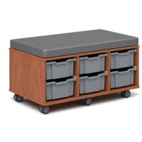 Shown in Wild Cherry Laminate, Smokey Vinyl, Silver Tubs