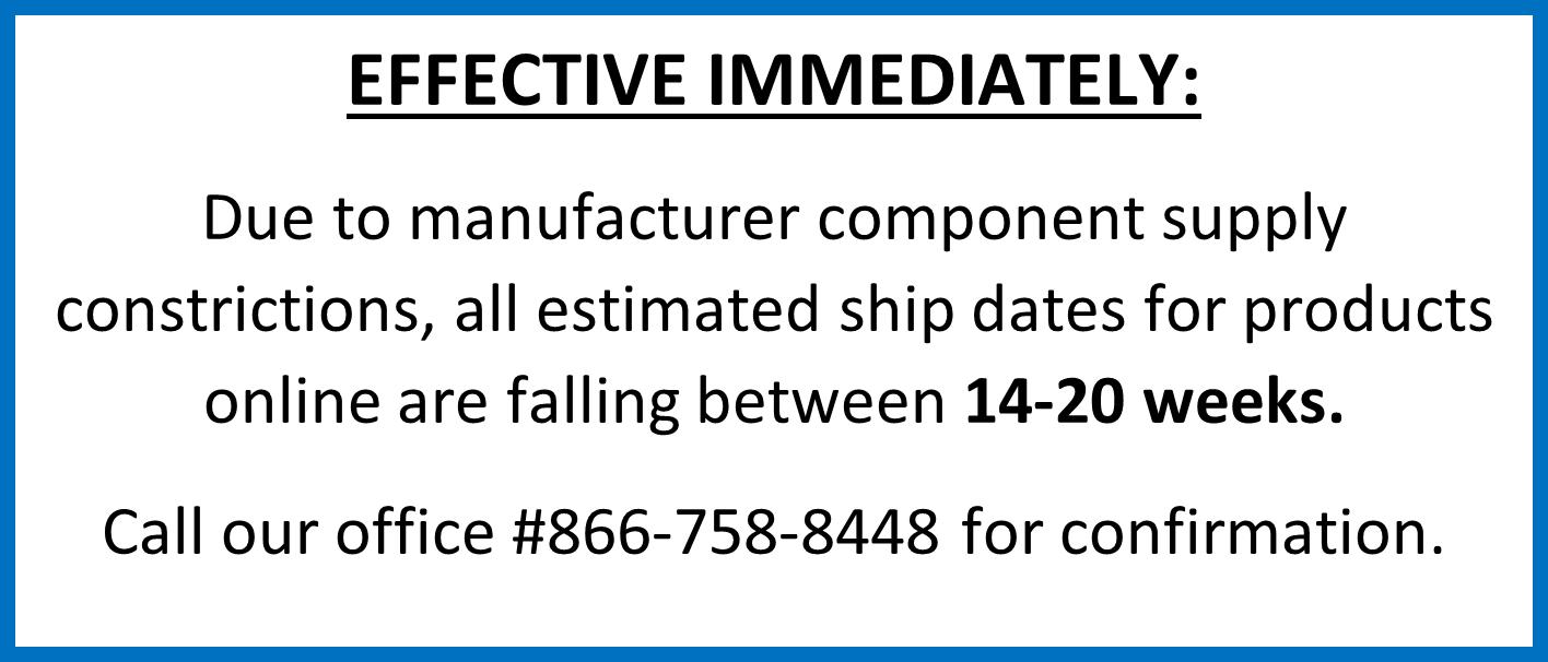 Increased EST Ship Dates