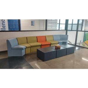 Multicolored couch in school